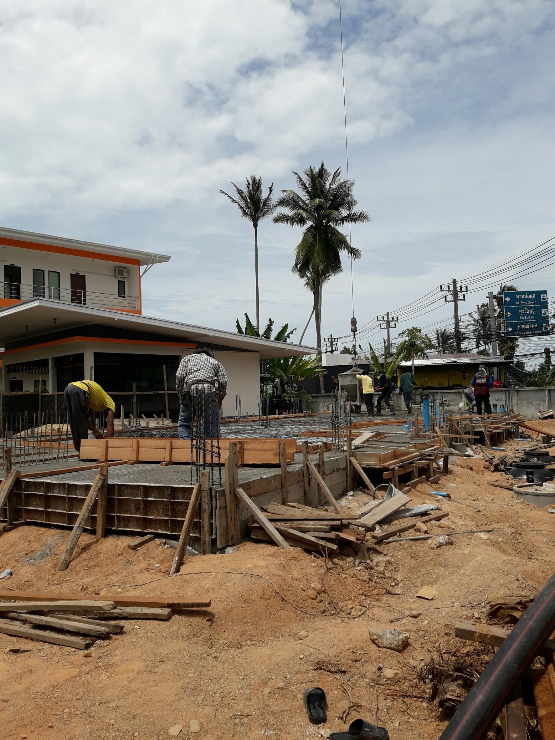 Construction chaweng koh samui
