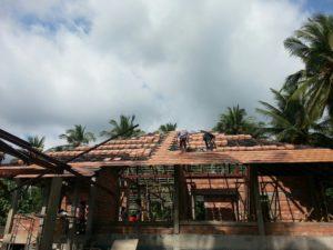 Roof gutter construction koh samui