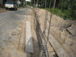 cement wall building koh samui