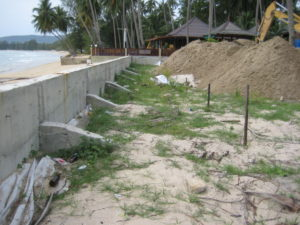 Cement fence wall construction koh samui