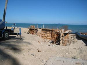 Cement fence wall construction ruangchai samui construction