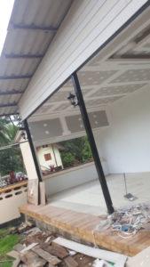 เพดานสูง สีขาว เพดานติดตั้ง ออกเเบบเพดาน เพดานสองชั้น เพดานทาสี