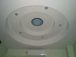 เพดานวงกลม สีขาว มีไฟ