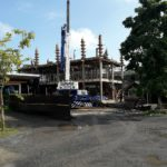crane hoist working in Chaweng koh samui