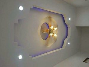 high quality luxury embedded ceiling with spot led system