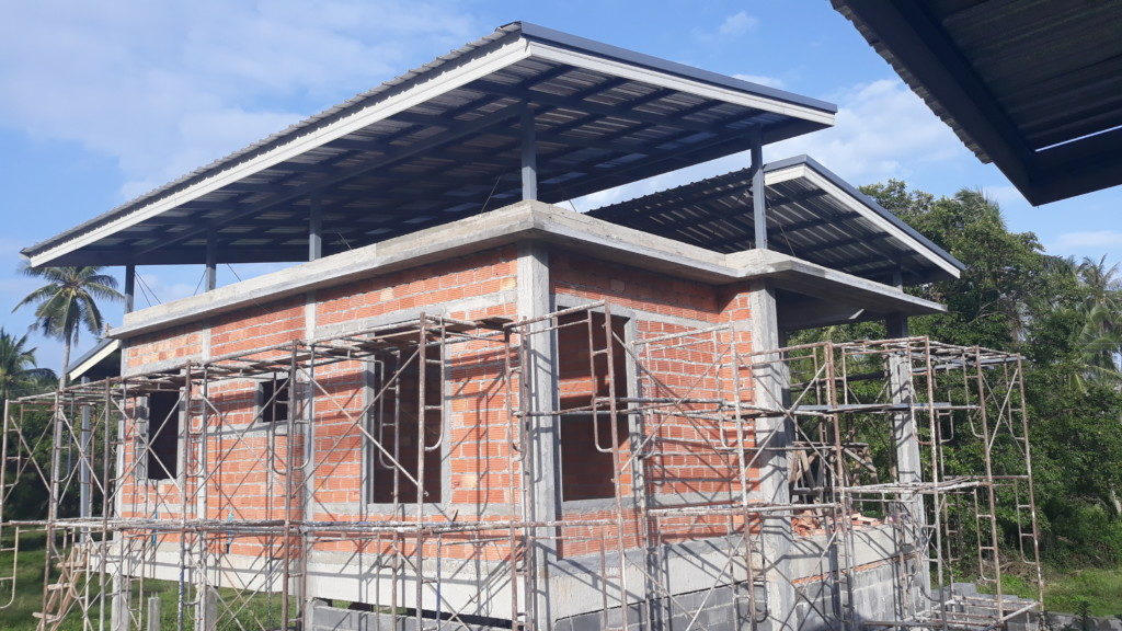 Koh samui, Thong krut, family home ingot brick masonry work