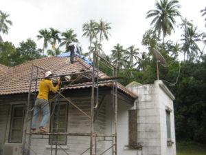 normal brick roof installation koh samui