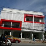 taxi and motobike people looking new office home combination in chaweng, koh samui
