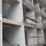 apartment construction chaweng, koh samui. Front side start be ready for windows