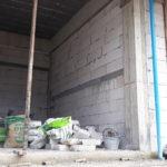White hard brick wall installation